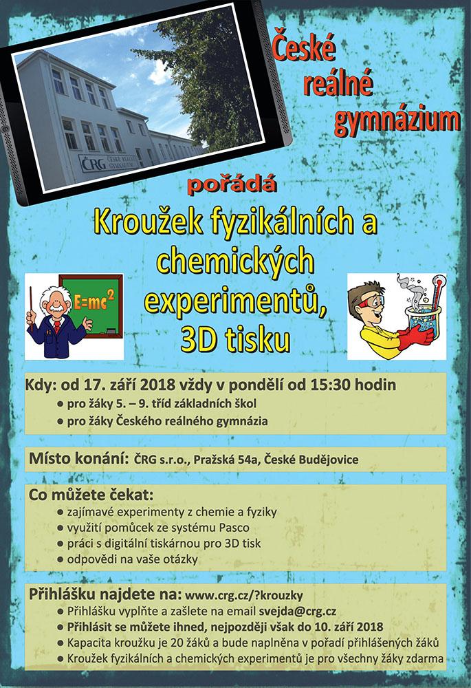 Kroužek fyzikálních a chemických experimentů a 3D tisku