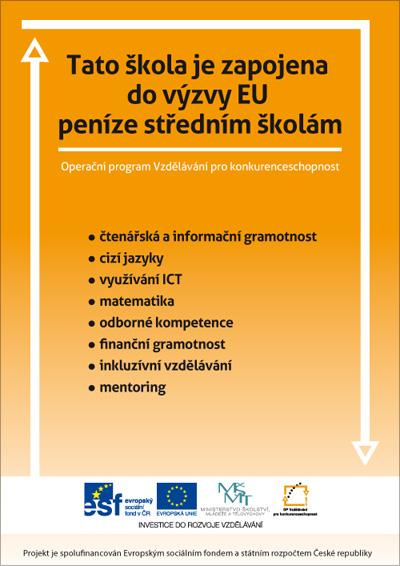 Plakát Výzva EU: Peníze středním školám